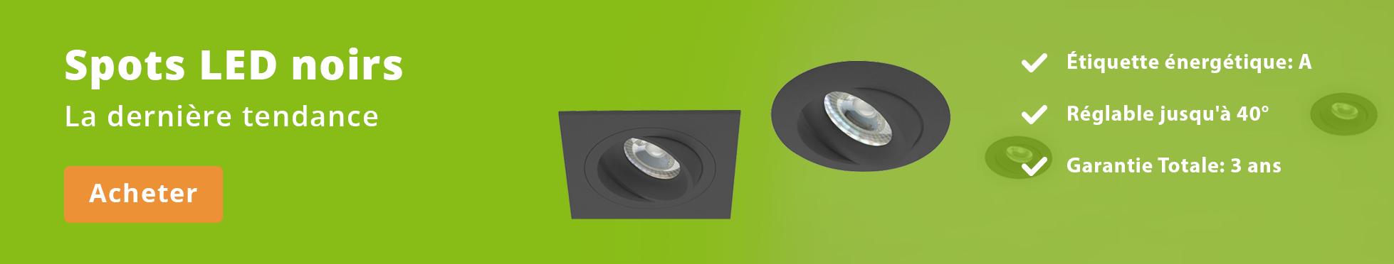 Luminaires LED Spots Noir