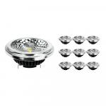 Lot 10x Noxion Lucent Spot LED AR111 G53 Pro 12V 12W 930 40D  Blanc Chaud - Meilleur rendu des couleurs - Dimmable - Substitut 50W