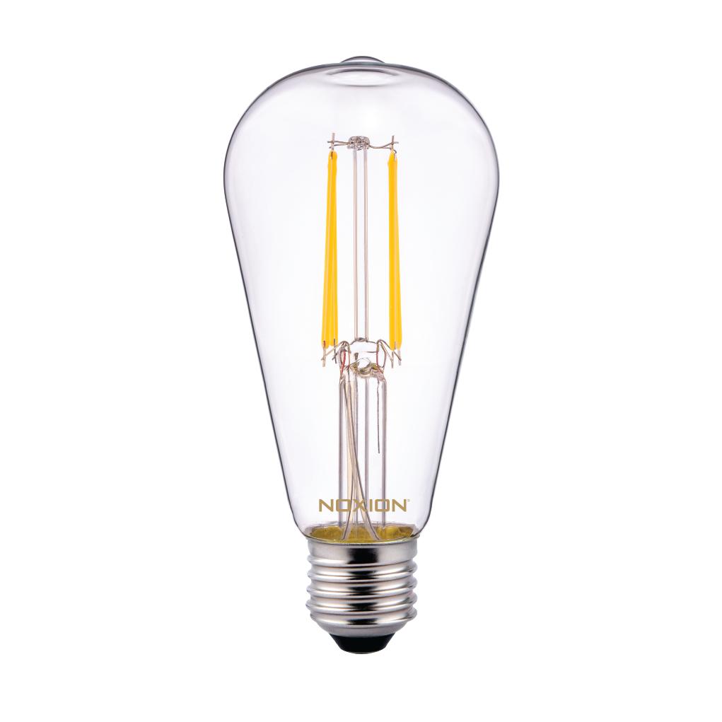 Noxion Lucent Classic LED Filament ST64 E27 4W 827 Claire | Remplacement 40W