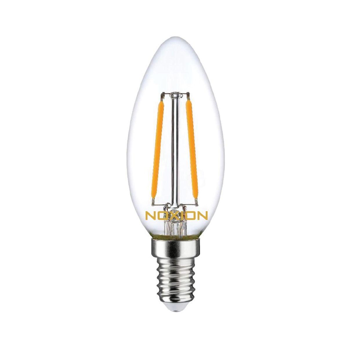 Noxion Lucent Filament LED Candle 2.5W 827 B35 E14 Claire   Remplacement 25W