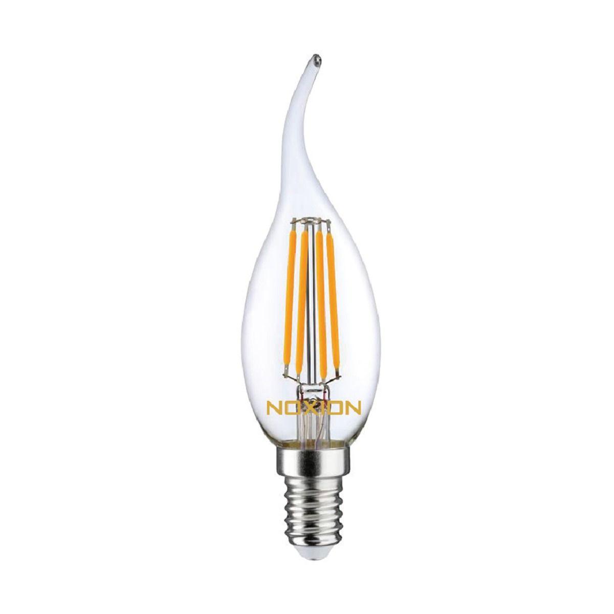 Noxion Lucent Filament LED Candle 4.5W 827 BA35 E14 Claire   Dimmable - Remplacement 40W