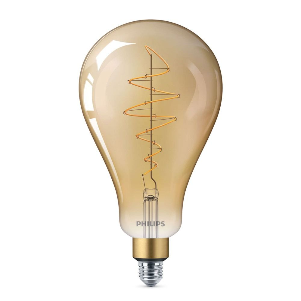 Philips Classic LED Giant Vintage E27 A160 6.5W 820 Dorée   Dimmable - Substitut 40W