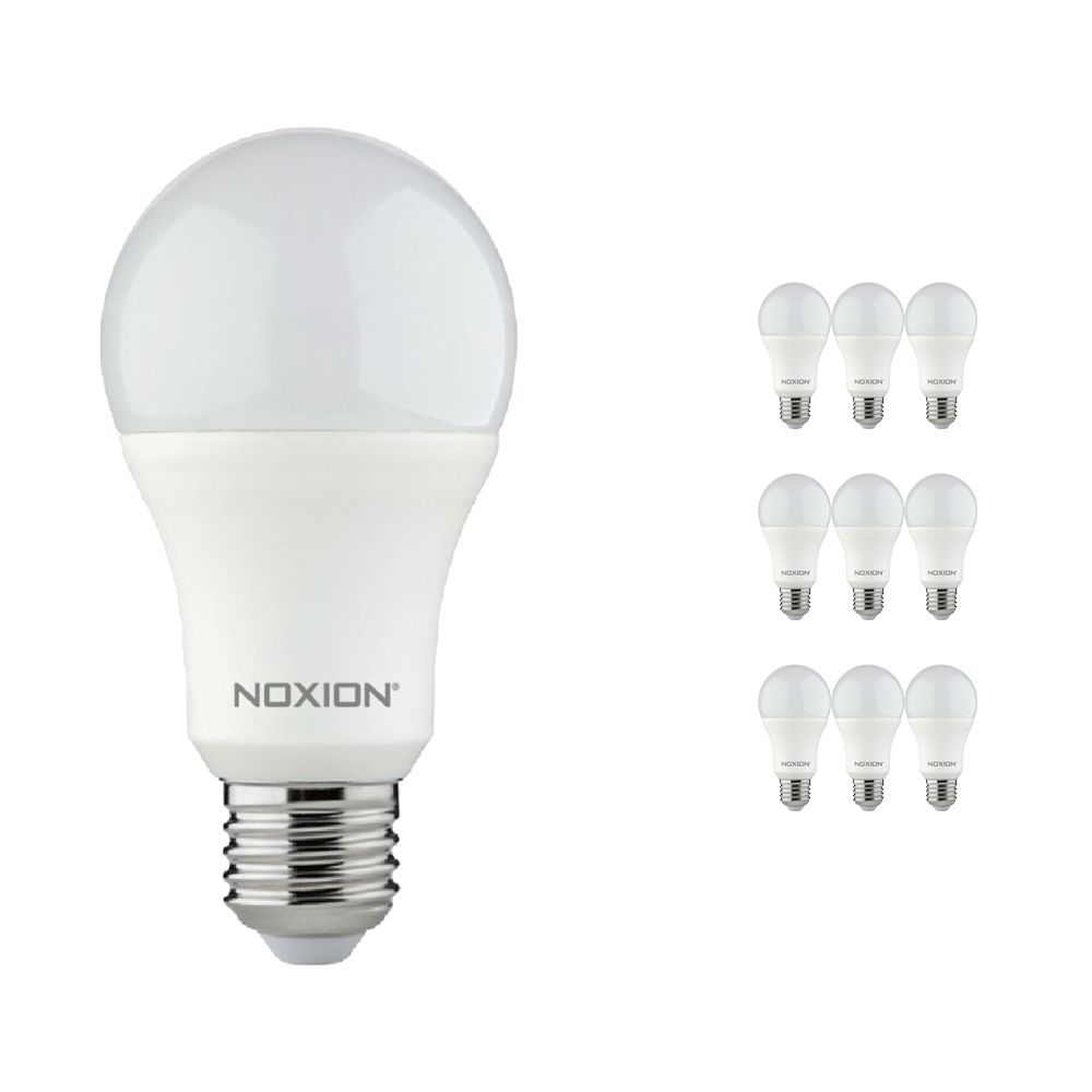 Lot 10x Noxion Lucent LED Classic 11W 840 A60 E27 | Blanc Froid - Substitut 75W