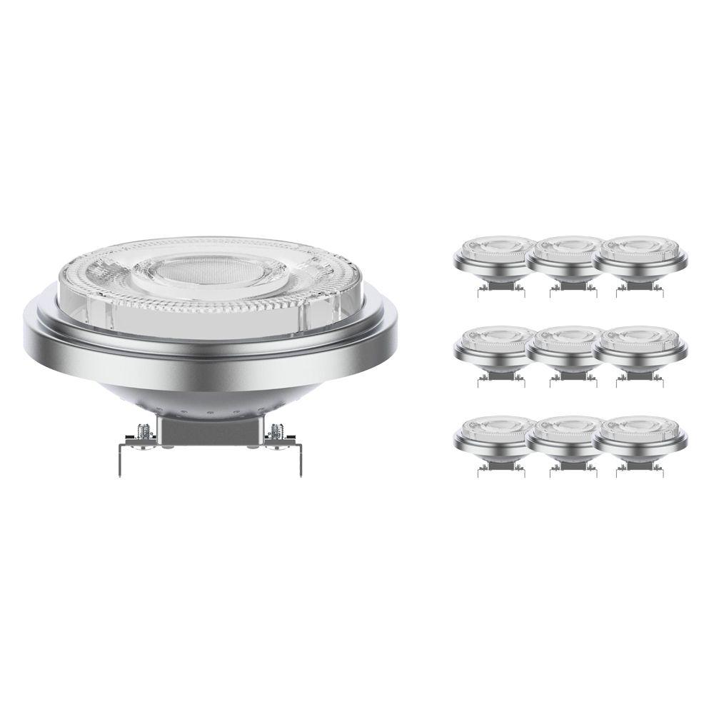 Lot 10x Noxion Lucent Spot LED AR111 G53 12V 7.3W 927 24D   Dimmable - Meilleur rendu des couleurs - Substitut 50W