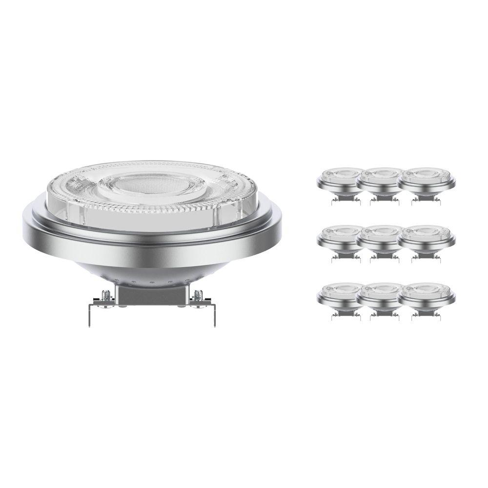 Lot 10x Noxion Lucent Spot LED AR111 G53 12V 11.5W 930 24D | Dimmable - Meilleur rendu des couleurs - Substitut 75W