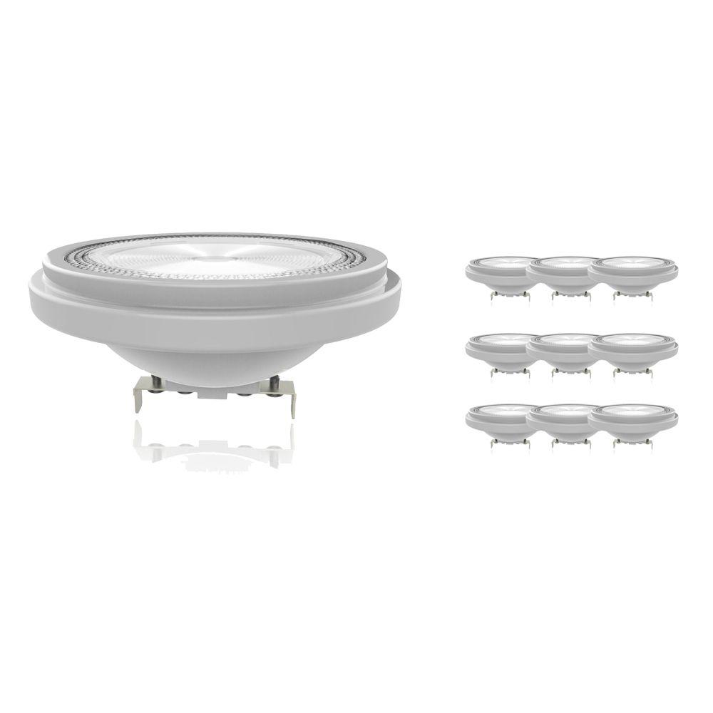 Lot 10x Noxion Lucent Spot LED AR111 G53 12V 11.5W 930 40D   Dimmable - Meilleur rendu des couleurs - Substitut 75W