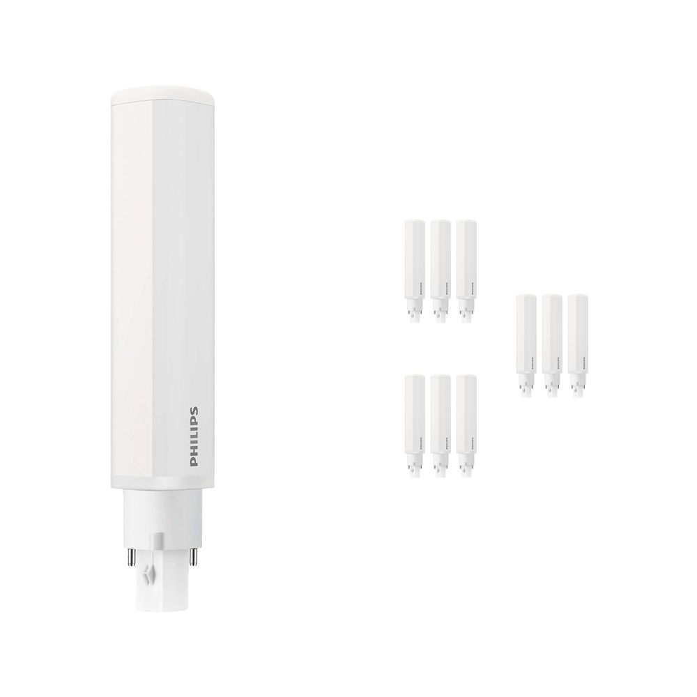 Lot 10x Philips CorePro PL-C LED 8.5W 840 | Blanc Froid - 2-Pins - Substitut 26W