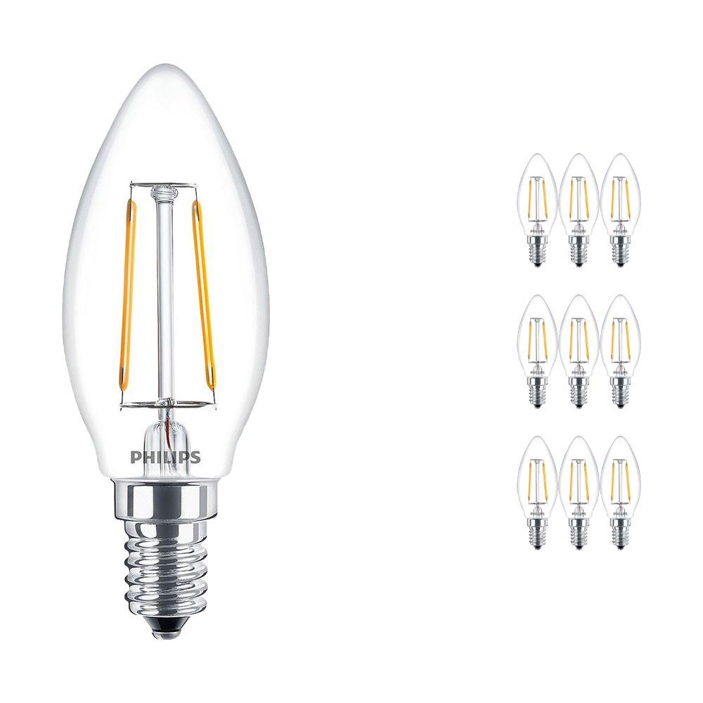 Lot 10x Philips Classic LEDcandle E14 B35 2.5W 827 Claire   Substitut 25W