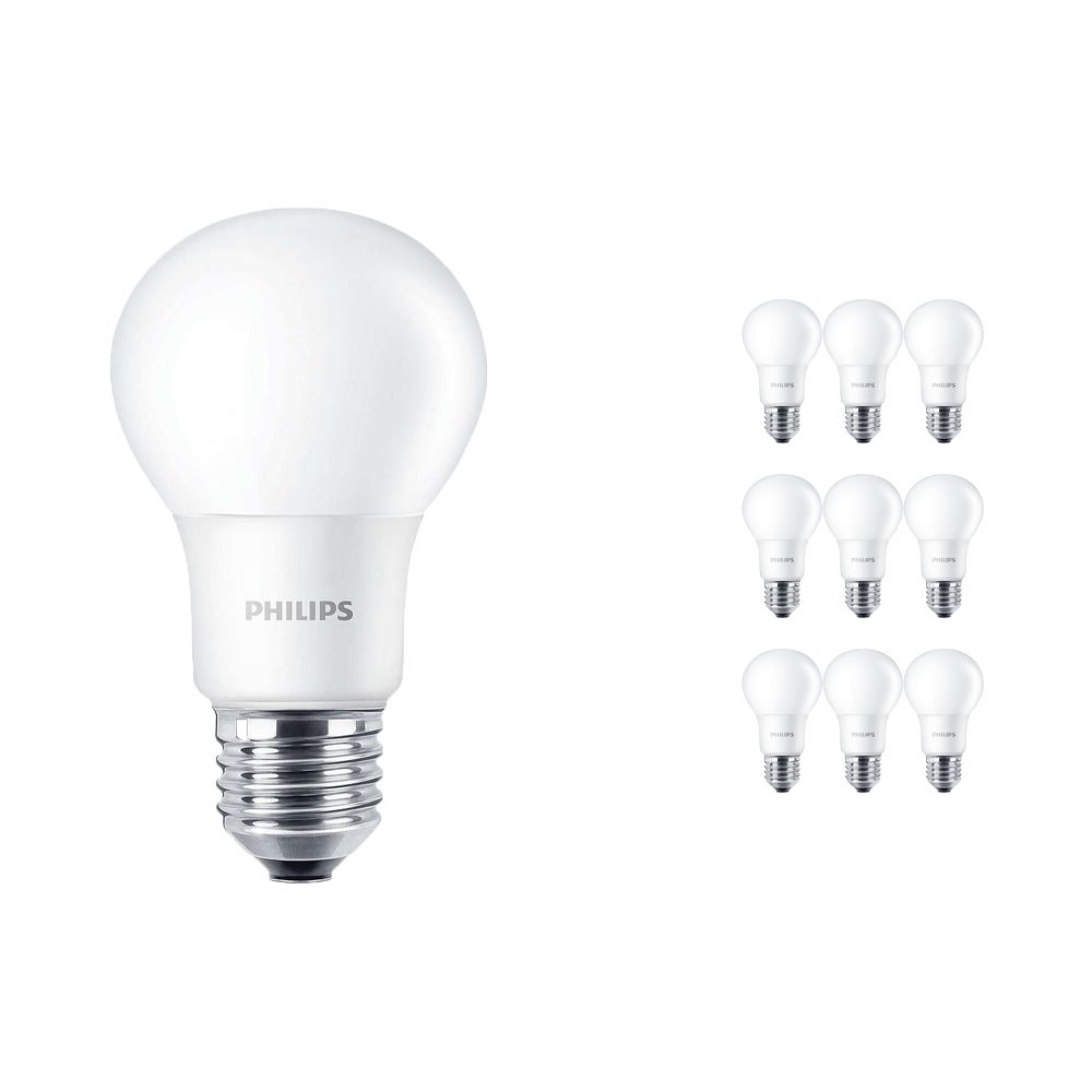 Multipack 10x Philips CorePro LEDbulb E27 A60 5.5W 830 Matt | Warm White - Replaces 40W