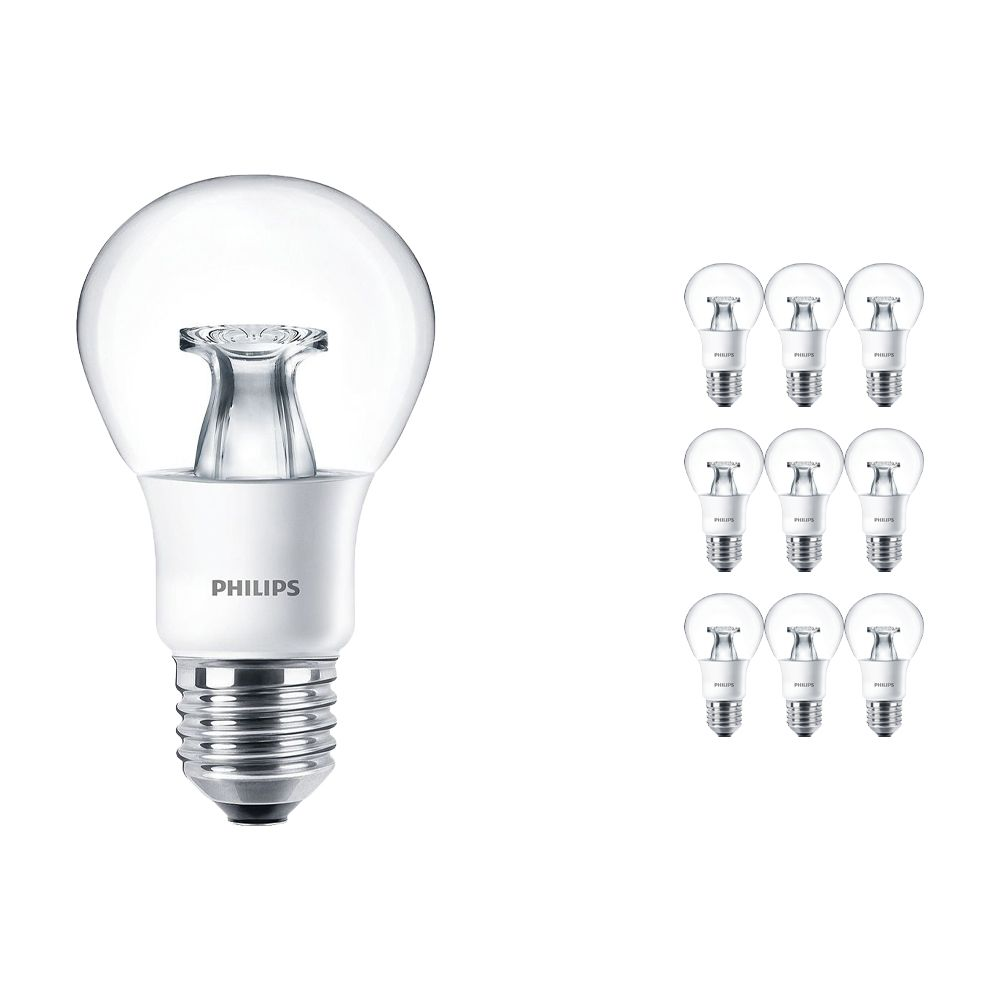 Lot 10x Philips LEDbulb E27 A60 6W 827 Claire (MASTER) | DimTone Dimmable - Remplacement 40W