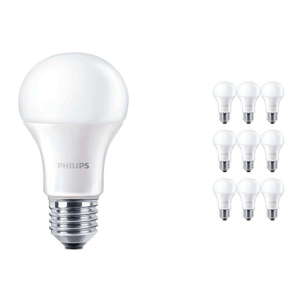 Lot 10x Philips CorePro LEDbulb E27 A60 13W 830 Matt | Remplacement 100W
