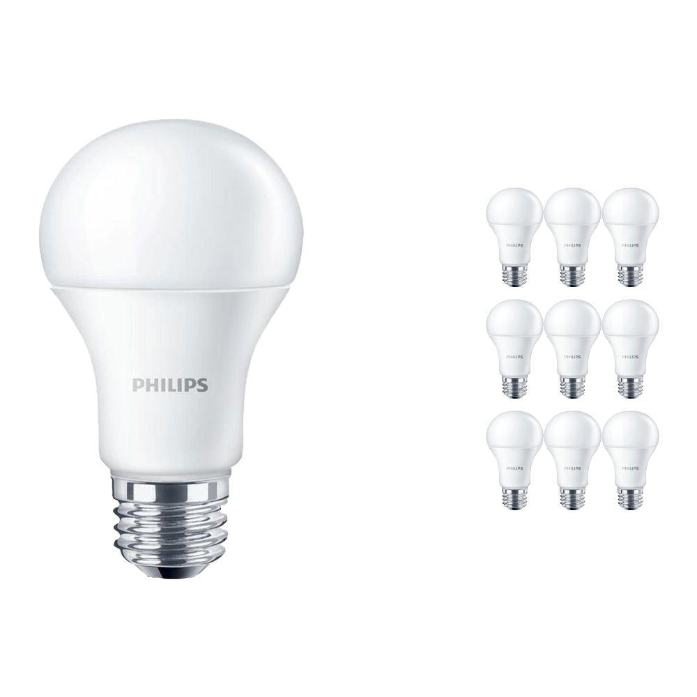 Lot 10x Philips CorePro LEDbulb E27 A60 10W 840 Matt   Remplacement 75W