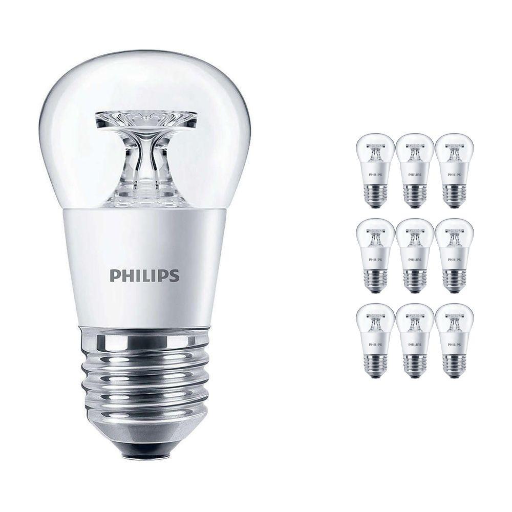 Lot 10x Philips CorePro LEDluster E27 P45 5.5W 827 Claire   Équivalent 40W