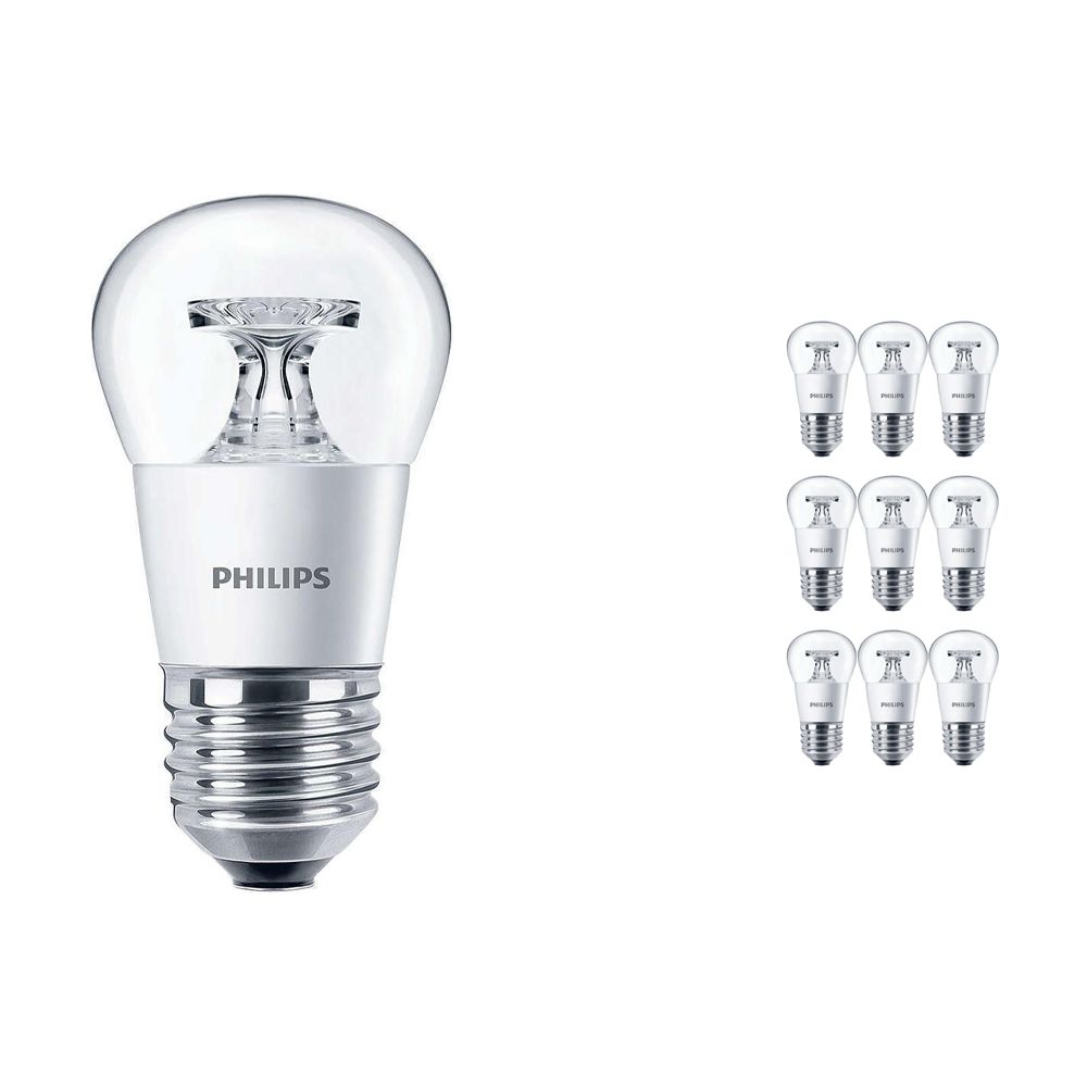 Lot 10x Philips CorePro LEDluster E27 P45 4W 827 Claire | Remplacement 25W