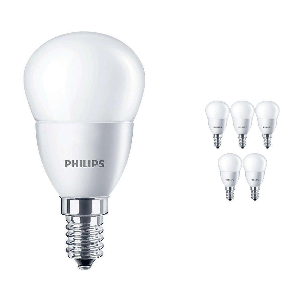 Lot 6x Philips CorePro LEDluster E14 P45 5.5W 827 Matt   Remplacement 40W