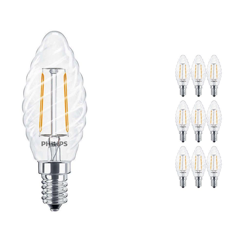 Lot 10x Philips classique LEDcandle E14 ST35 2.5W 827 Claire | Remplacement 25W
