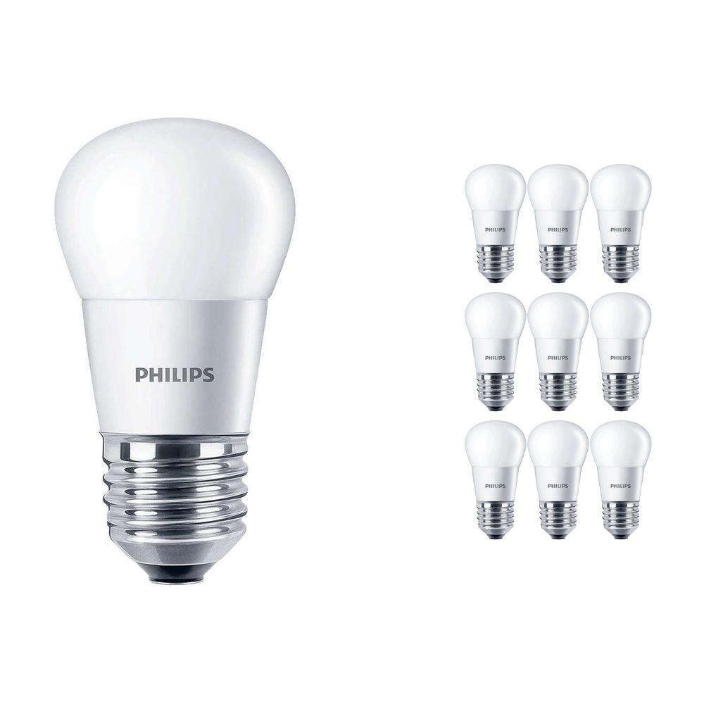 Lot 10x Philips CorePro LEDluster E27 P45 5.5W 827 Matt   Remplacement 40W