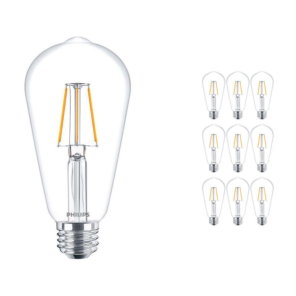 Lot 10x Philips classique LEDbulb E27 Edison 4W 827 Claire | Remplacement 40W