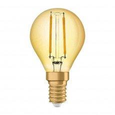 Osram Vintage 1906 LED E14 P45 1.4W 825 Dorée | Substitut 12W